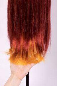 wig with colored tips