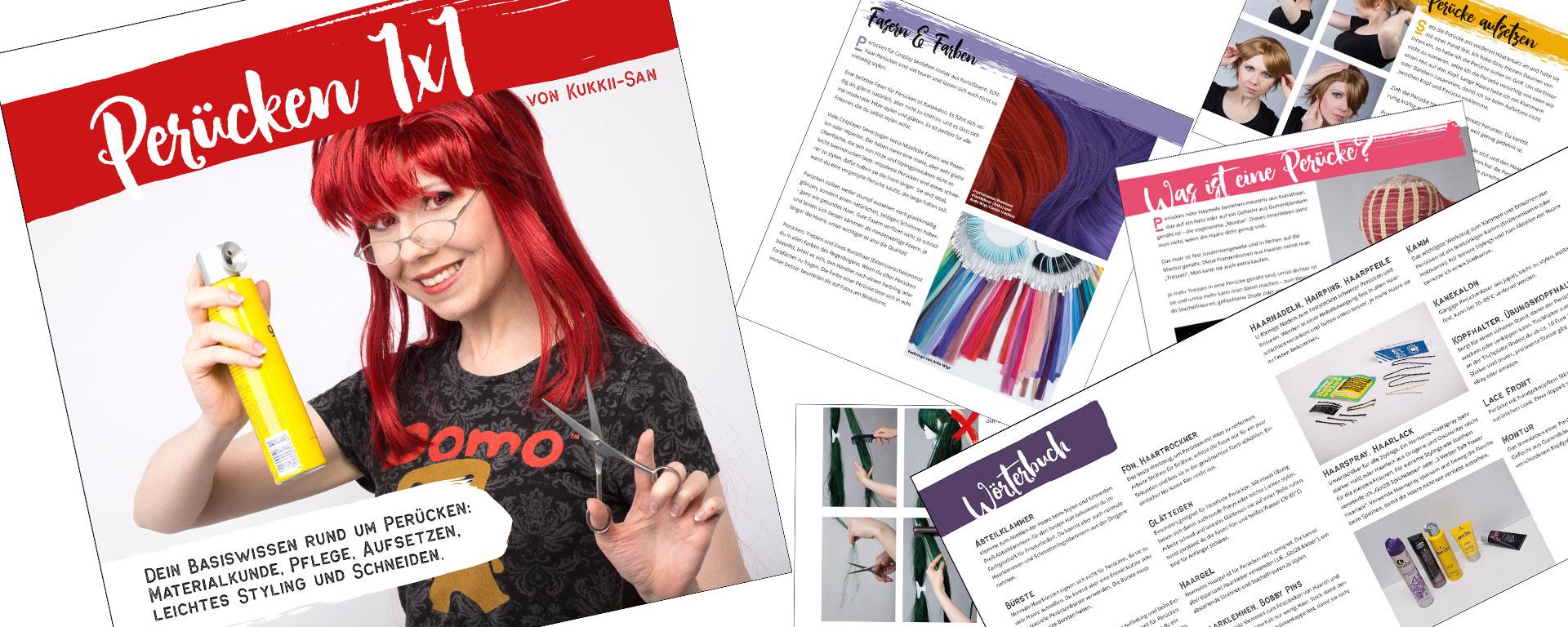 Perücken 1x1 Buch Collage