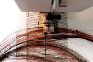 sewing wefts