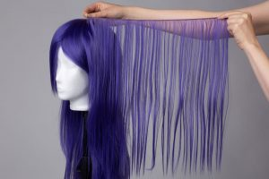 Wig with matching weft