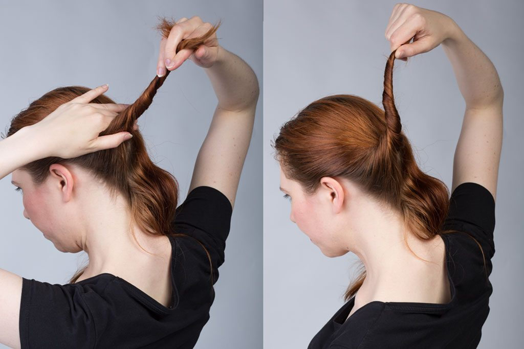 twisting hair for buns