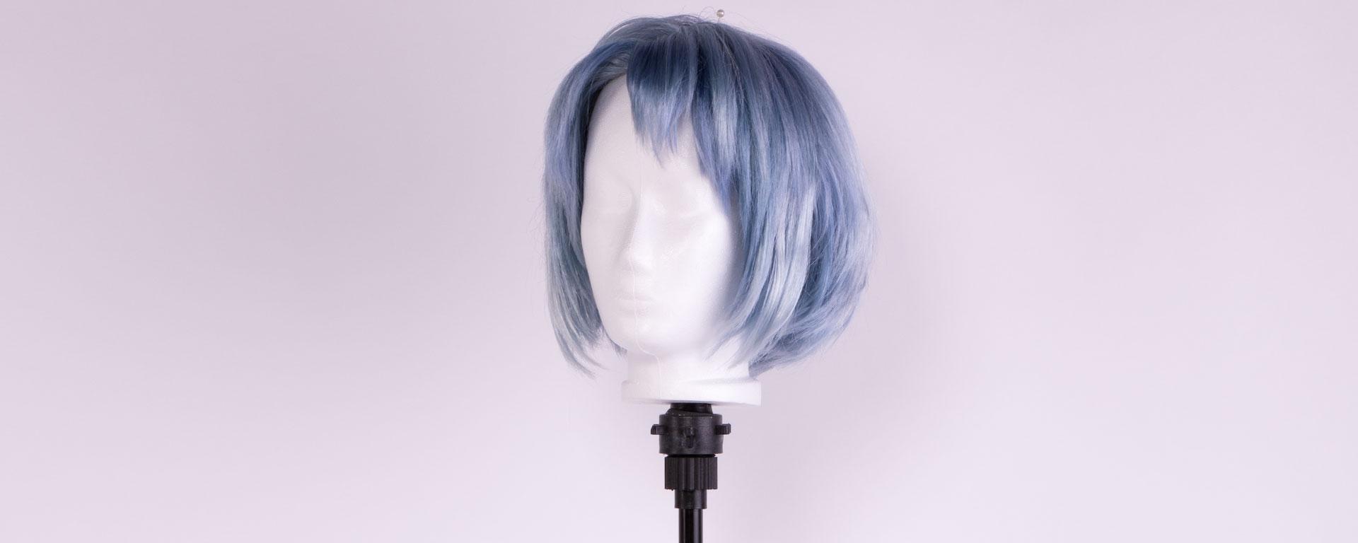 foam head on a wig stand