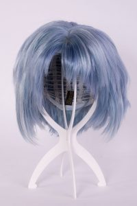 collapsible plastic wig stand