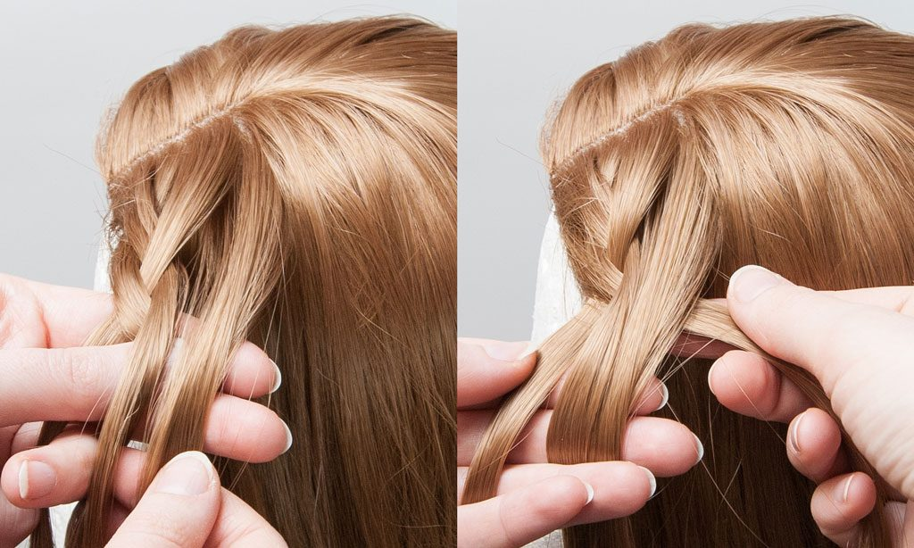 add hair from the wig to the braid