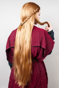 braided wig for reenactment