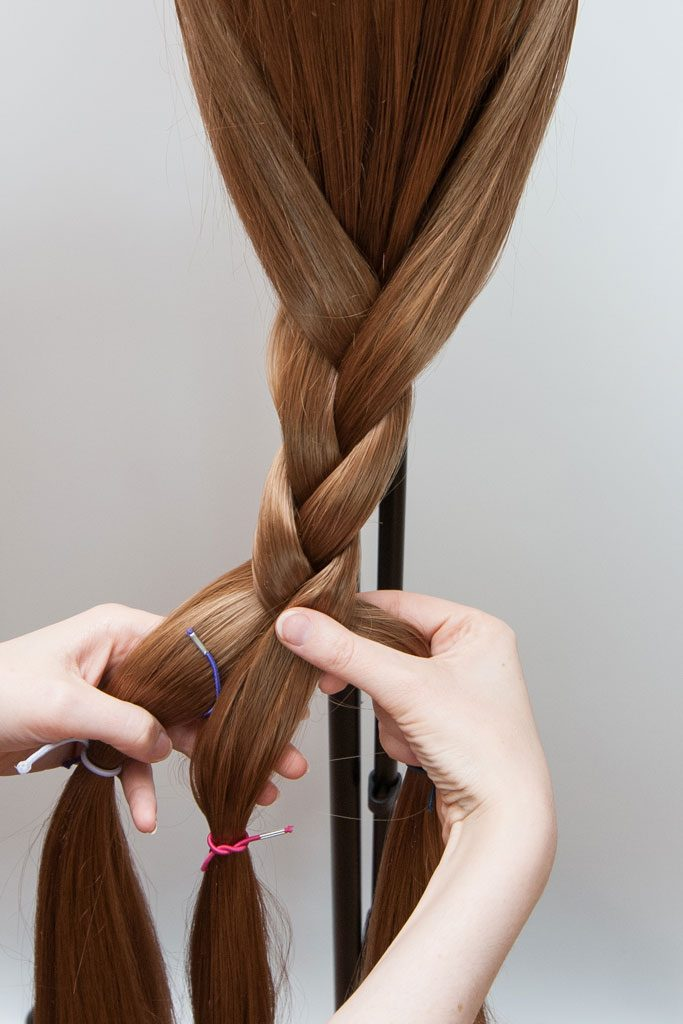 braiding a wig