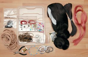 cosplay wig and materials
