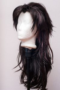Wig for Fang (Final Fantasy XIII) with extra braids sewn into the wig
