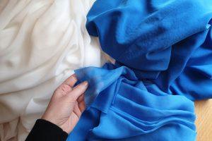 chiffon and faux silk