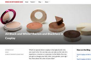 blackface blog post