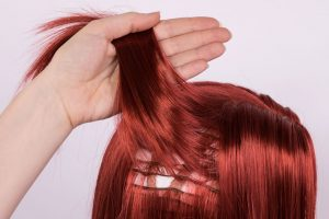 wefts on a wig