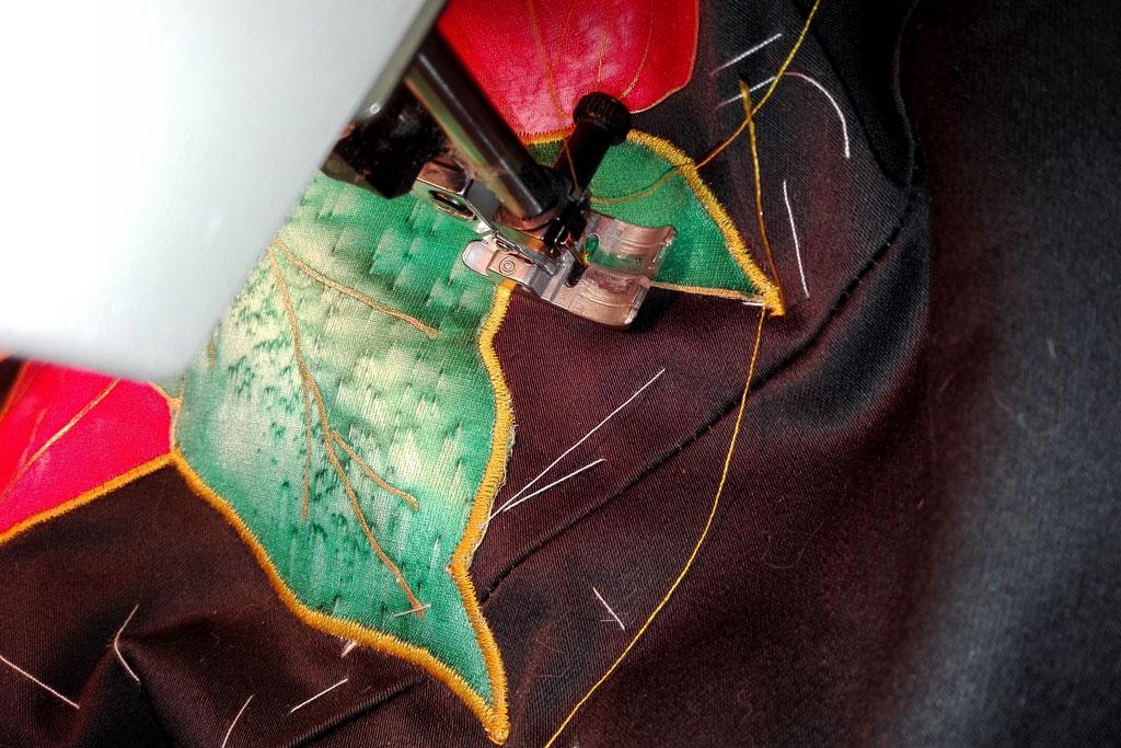 satin-stitching applique