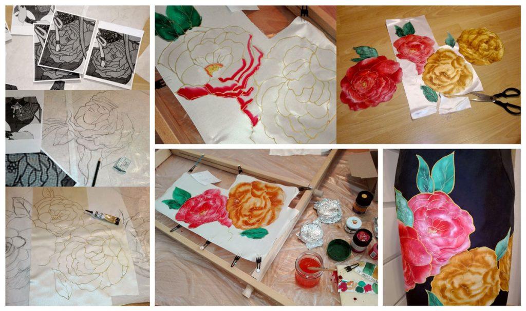 silk paint progress