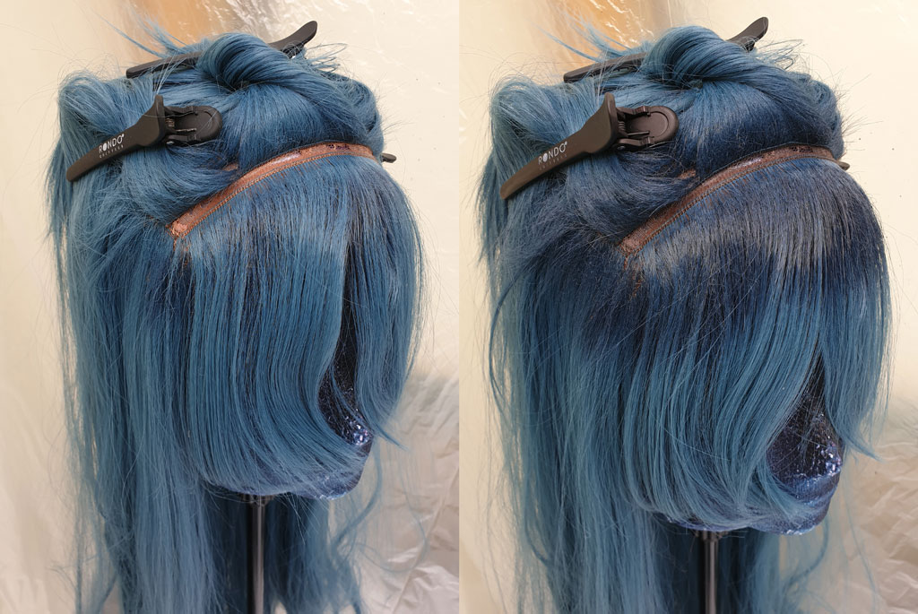 dyeing wig roots