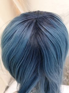 dyed wig roots