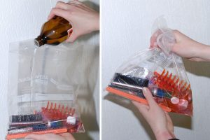 cleaning tools with alcohol
