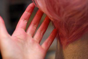 dyed wig rub-off