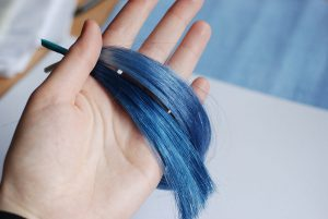 wig dye swatches blue