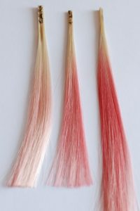 wig dye swatches red