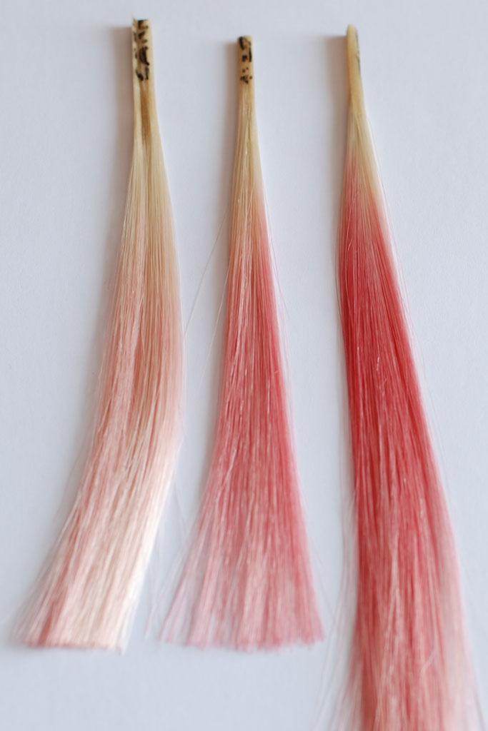 Los tintes de peluca se tiñen de rojo