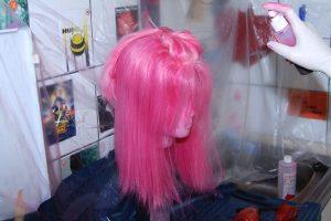dyeing wig bangs