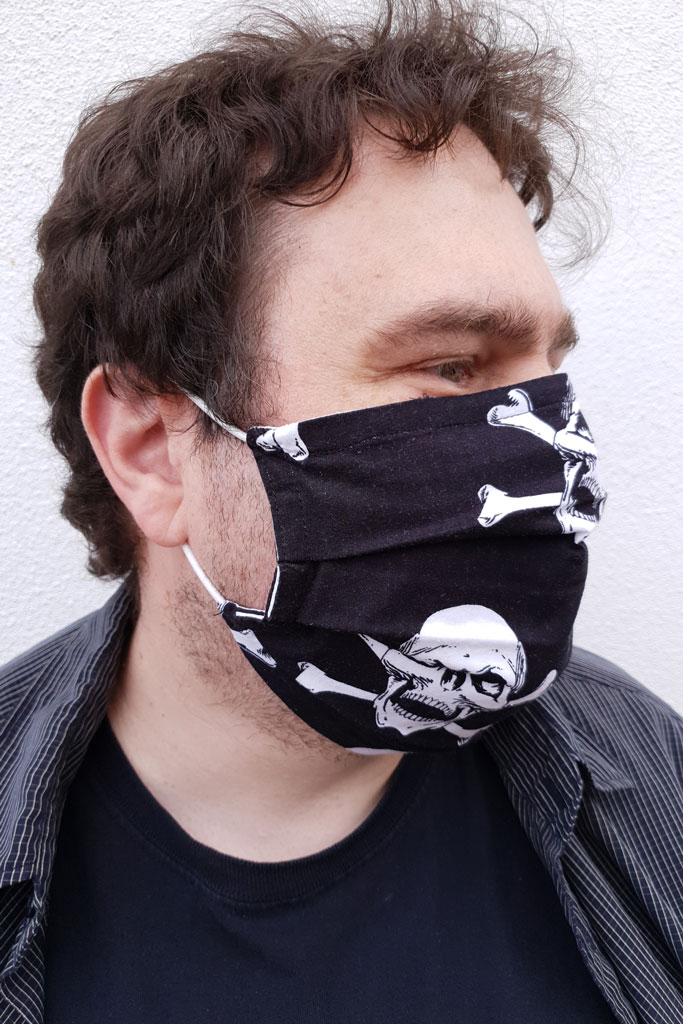 Erik with pirate face mask