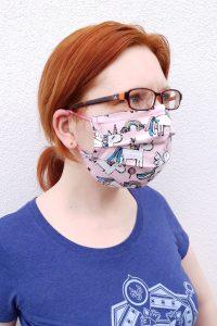 kukki with unicorn face mask