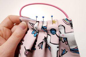 pinned pleats