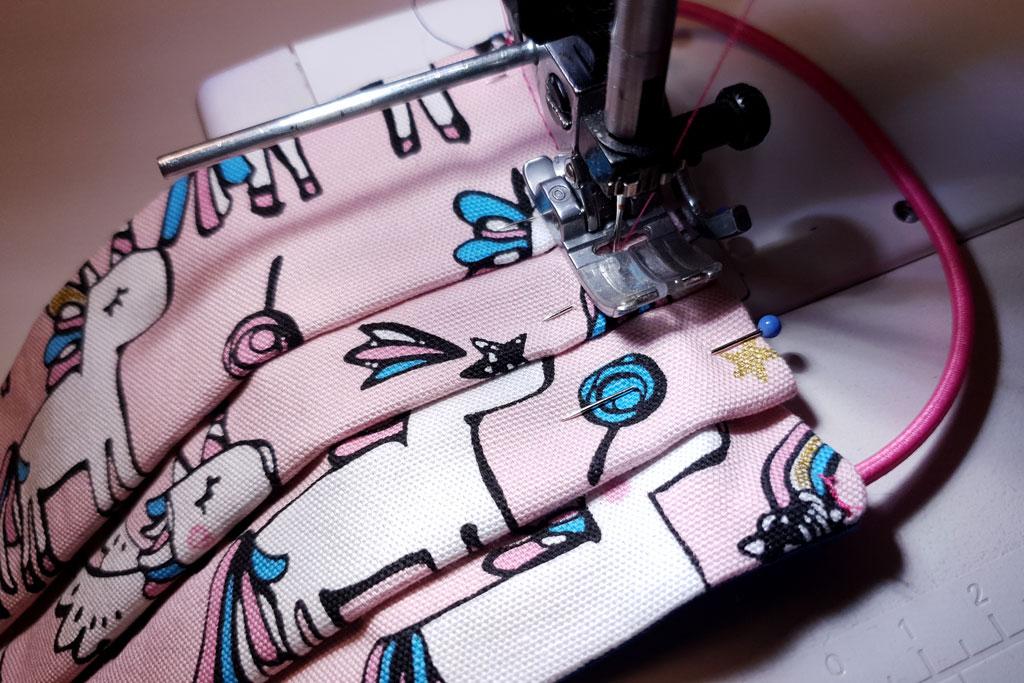 stitching pleats