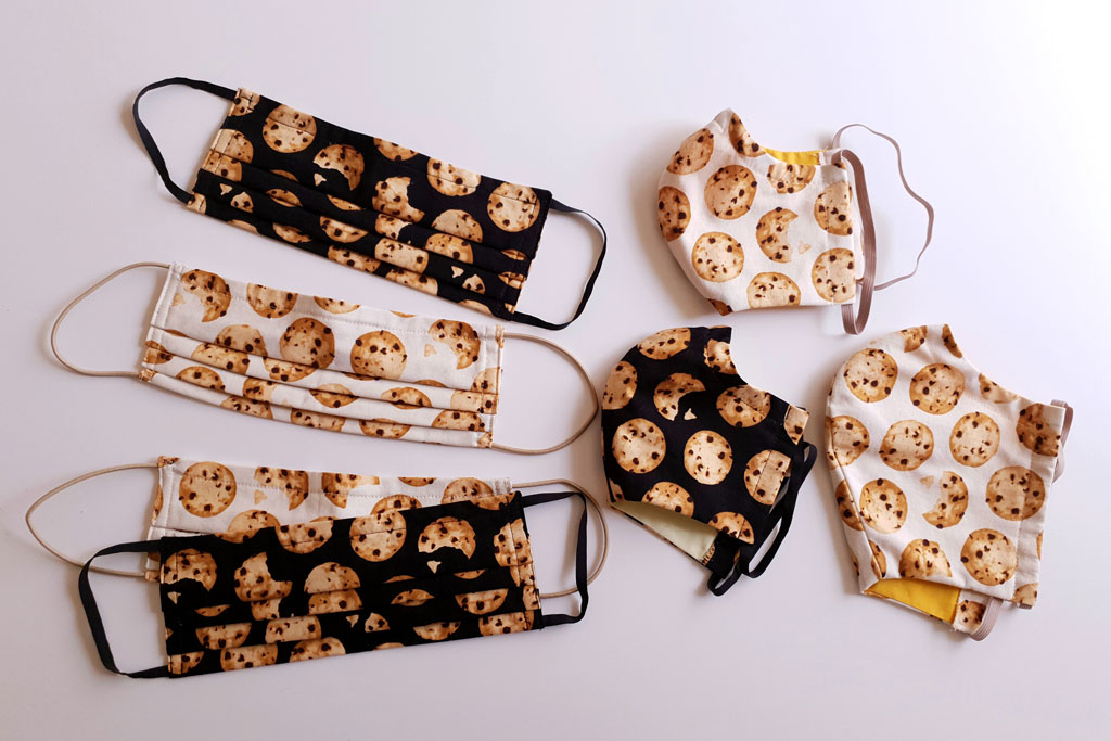 masks with cookie print