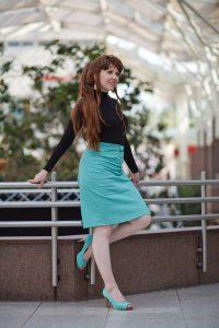 mako with green skirt