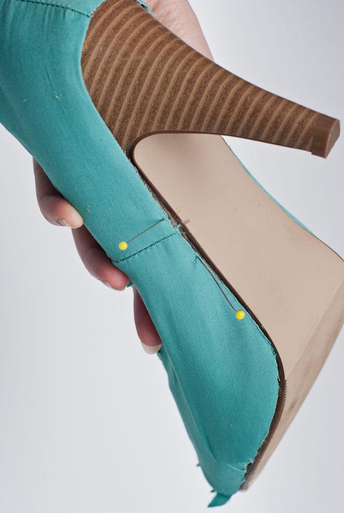 pin shoe cover