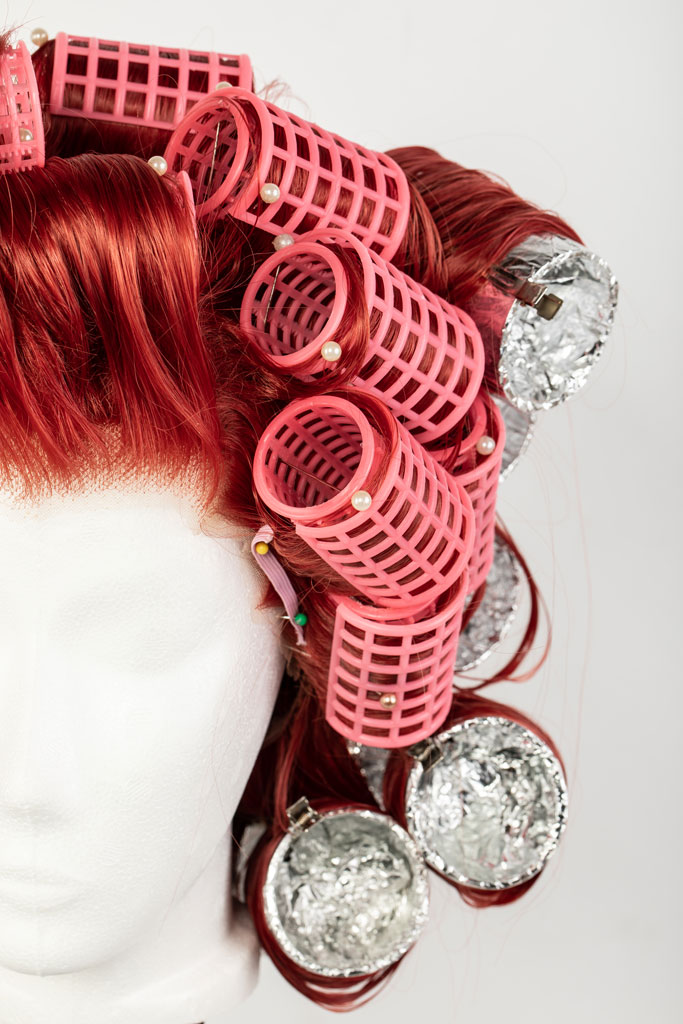 wig on curlers