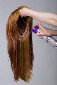 wig and hairspray
